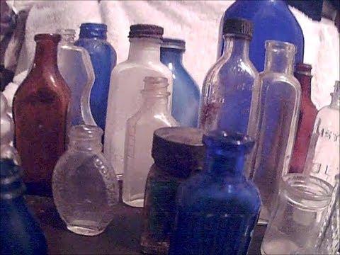 Glass Bottle Identifications #1: 4 Small Bottles