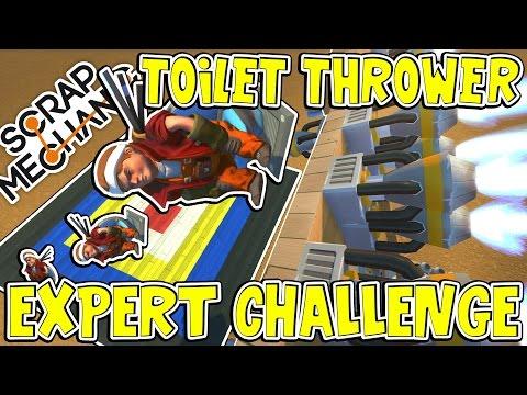 Scrap Mechanic EXPERTS - TOILET THROWER CHALLENGE! VS rEtRo_sPexX - [#3]   Gameplay
