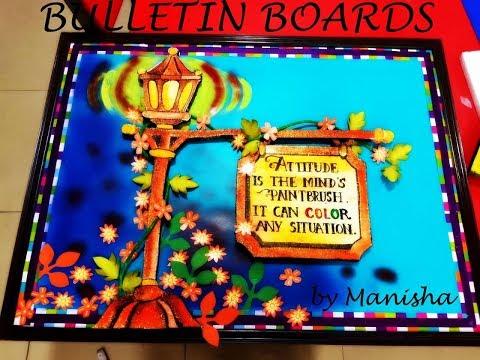 Bulletin board ideas for school and classroom - YouTube