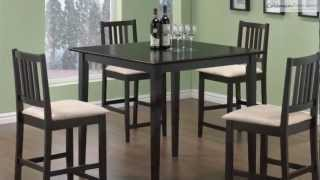 Archer Cappuccino Counter Height Dining Room Collection From Coaster Furniture