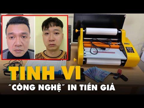 Bắt đối tượng sản xuất tiền giả bằng máy in màu ở Hà Nội