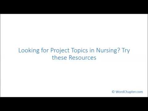 nursing capstone project ideas