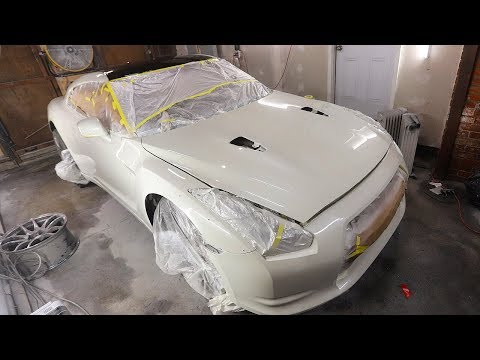 Repainting the Entire GTR for a Perfect Color Match