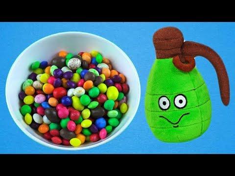 قنبلة يدوية كاملة من الحلويات ، أغاني الأطفال ، وأشرطة الفيديو للأطفال