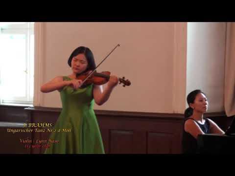 J. BRAHMS Ungarischer Tanz Nr 2 d Moll / Violin LYNN Nam(13 year old)