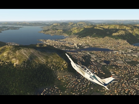 X-plane 11 - Tour of Norway - Part 3: Sogndal to Bergen