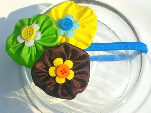 Tutorial accesorios flores de tela cabello diy youtube - Flores de telas hechas a mano ...