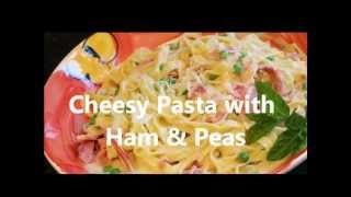 Cheesy Pasta With Ham & Peas
