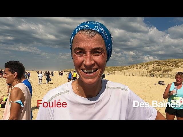 Foulée des Baïnes #6 - vlog - Interviews des coureurs après la course Grand Crohot Lège-Cap Ferret