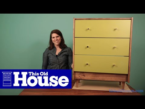 How To Make A Mid Century Modern Style Dresser Youtube