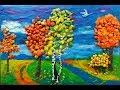 Поделки - Пластилиновая осень / ИДЕИ в ДЕТСКИЙ САД / КАРТИНА ОСЕНЬ/ Осенний пейзаж / Поделки на тему осень