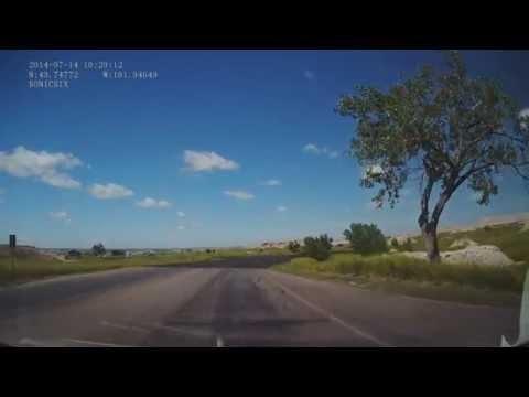 A Drive Through Badlands National Park (Dash Cam)
