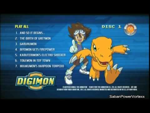 digimon the official first season dvd menu youtube