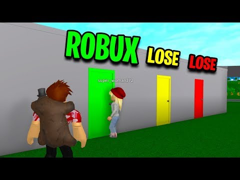 CHOOSE THE CORRECT ROBLOX DOOR TO WIN! *ONE CHANCE*