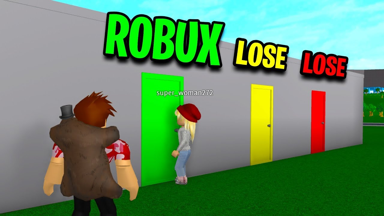 Choose The Right Mystery Door And You Win 10000 Robux Choose The Correct Roblox Door To Win One Chance Youtube