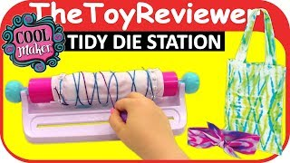 Cool Maker Tidy Dye Station Craft Kit for Kids DIY How To Tie Unboxing Toy Review by TheToyReviewer
