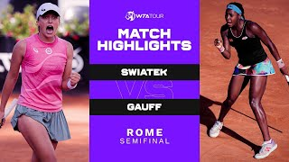 Coco Gauff vs. Iga Swiatek | 2021 Rome Semifinal | WTA Match Highlights