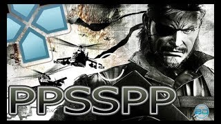 Metal Gear Solid: Peace Walker - PPSSPP 1.0 Best Settings (PC, Android, IOS)