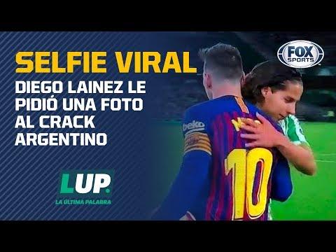 La viral foto de Diego Lainez y Lionel Messi