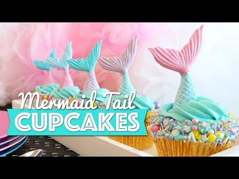 Mermaid Tail Cupcakes Tutorial Youtube