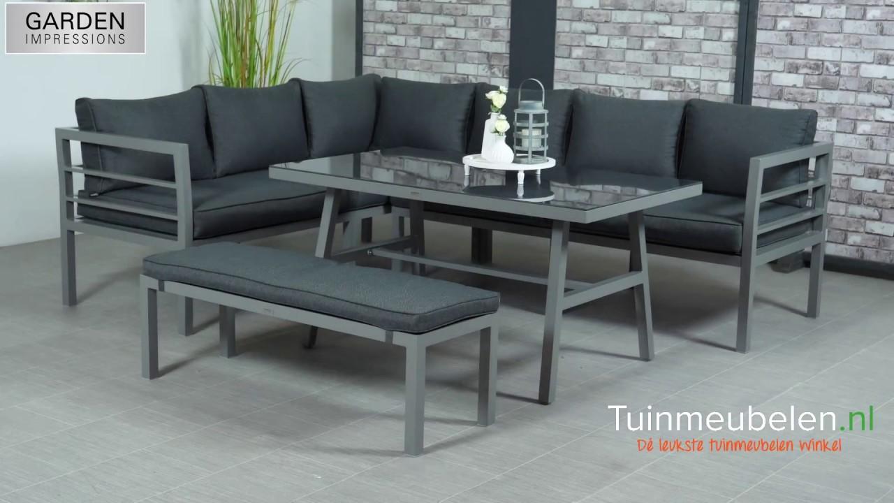 Garden impressions blakes lounge dining set aluminium