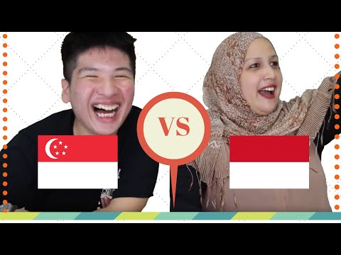 SINGAPORE VS INDONESIA IN REAL LIFE