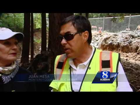 State officials tour Big Sur Palo Colorado Canyon