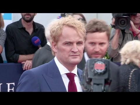 Newly Blonde Jason Clarke on the red carpet for Everest at the Deauville American Film Festival