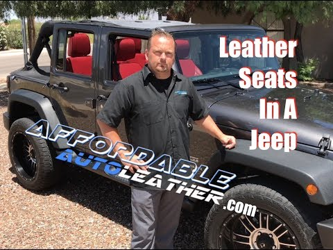 Jeep Wrangler Leather Seats How To Video Youtube