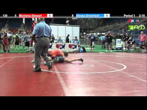 Pool B 130 - Montana Stewart (Texas 1) vs. Alyssa Greenleaf (Michigan)