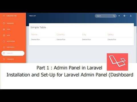 Laravel-Admin Panel (Part-1) | How to do Installation, Set-up and make Admin Panel(Dashboard)