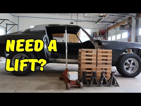 How to Get Your Car On and Off Your DIY Wooden Car Stands (Wheel Cribs)
