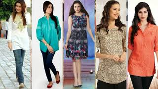short kurti with jeans