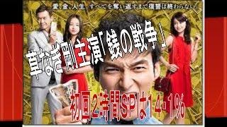 草なぎ剛主演「銭の戦争」初回2時間SPは14・1% 6日にスタートし...