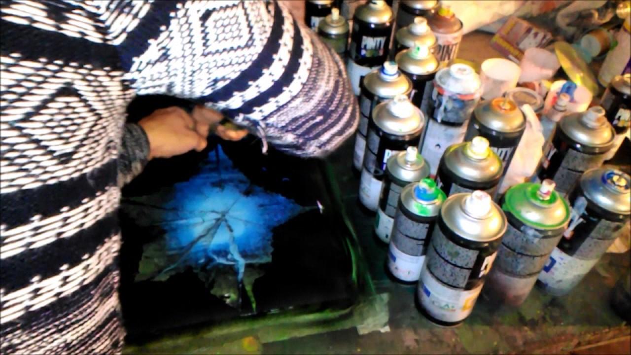 Como Pintar Flores Con Spray