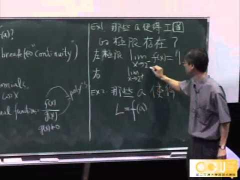 Lec03 微積分(一) 第二章 Limits and derivatives
