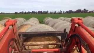 Moving hay in Australian Farm