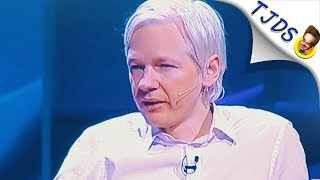 Julian Assange Gets Standing Ovation At TED Talk