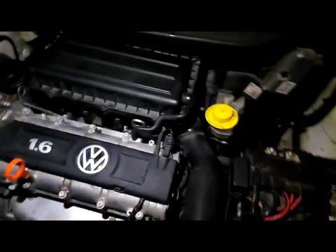 VW Polo Sedan замена антифриза без перегрева двигателя.