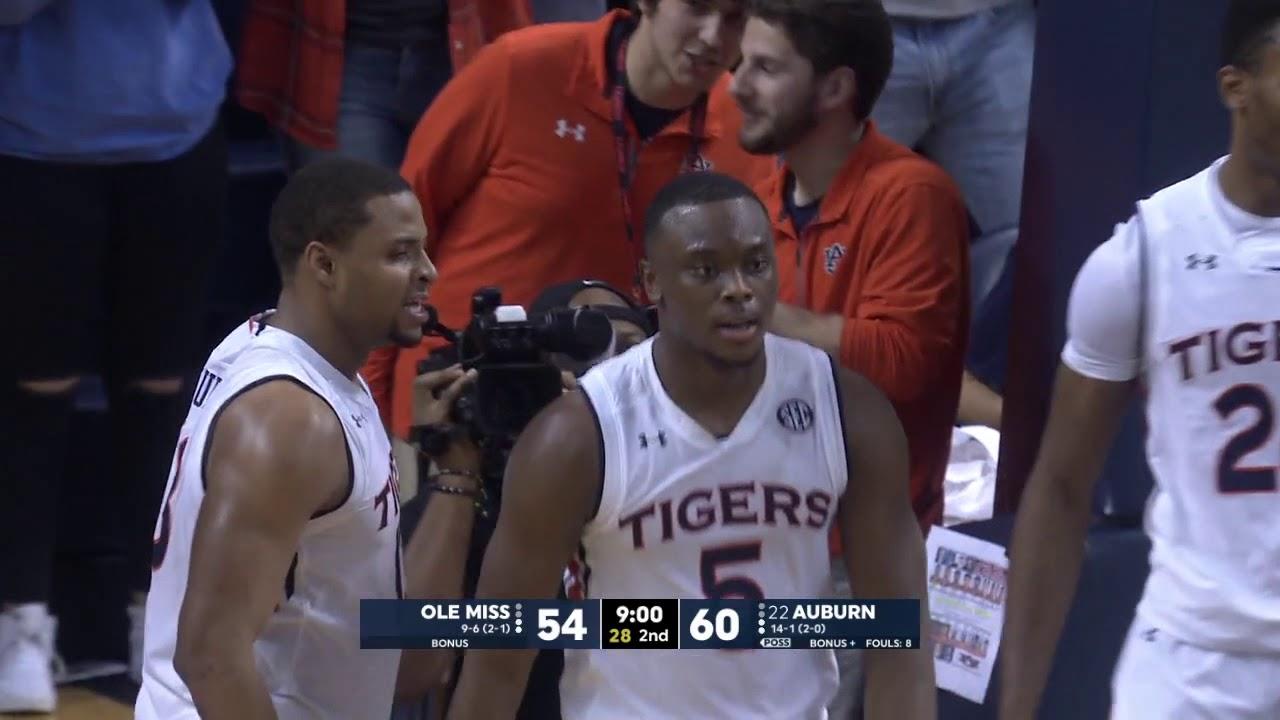 4737a663652 Auburn Men's Basketball Defeats Ole Miss 85-70 - YouTube