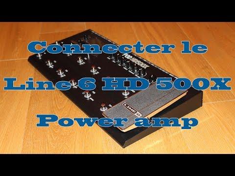 Connecter un Line 6 HD 500X dans le Power amp d'un combo.