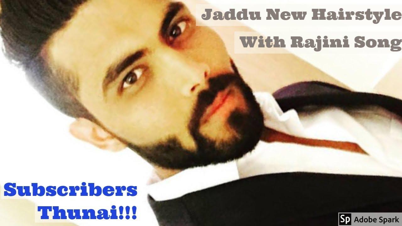 Ravindra Jadeja New Hair Style Rajini Song Remix Video Style