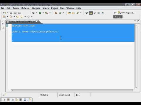 Java Web Programming with Eclipse: Wiki Application, Unpublish Page