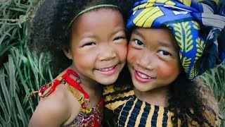 Blasian Girls Wearing African Dress and Modeling for the first time!! | Kenyan Vlog ep.194
