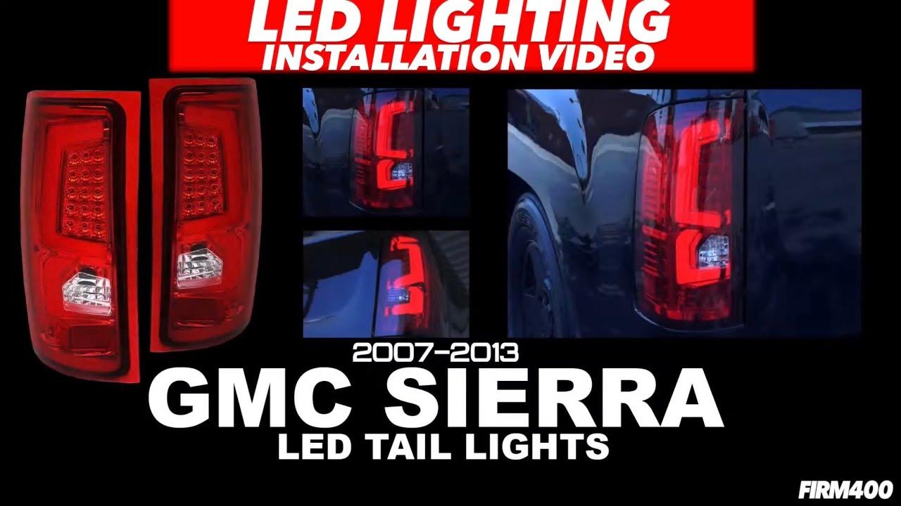 hight resolution of 07 13 gmc sierra led tail lights install ajp distributors