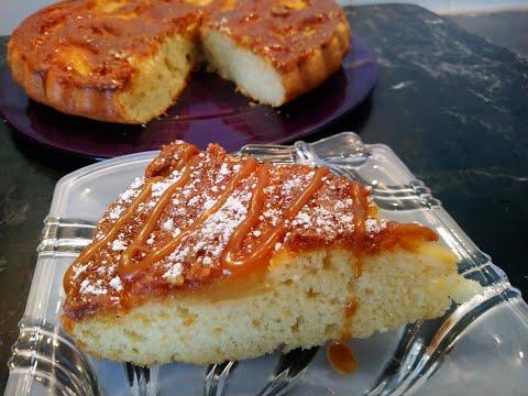 gâteau-aux-pommes-façon-tarte-tatin-!