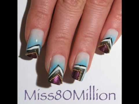 Gold Mountain Nail Art Tutorial Youtube