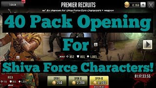The Walking Dead: Road To Survival - 40 Pack Opening For Epic Shiva Force Characters!