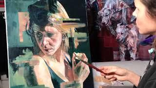 Self(ie)-conscious, by Hannah Shergold, oil on canvas, 70 x 90 cm