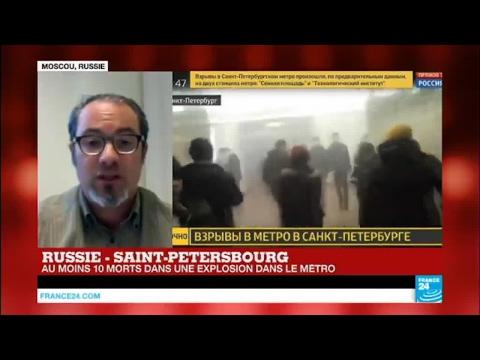 Russie : une explosion dans le métro de Saint-Pétersbourg